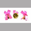 Колокольчик для выпускника с розовой атласной ленточкой