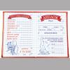 Дипломы для выпускников начальной школы с итоговыми оценками - красный - кошка