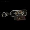 Корабль сувенирный в бутылке с золотыми парусами «Корабль мечты»