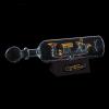 Корабль сувенирный в бутылке с золотым парусом в полоску «Семь футов под килем»