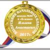 Медаль для выпускника начальной школы именная