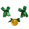 Колокольчик для выпускника с зеленой атласной ленточкой